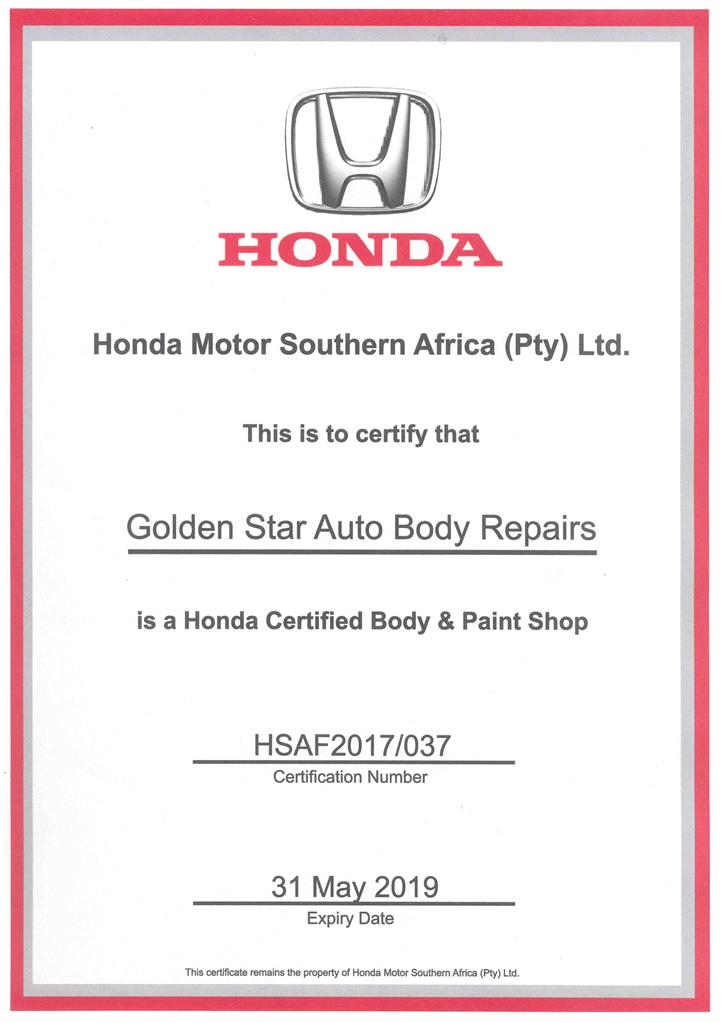 Honda Approval