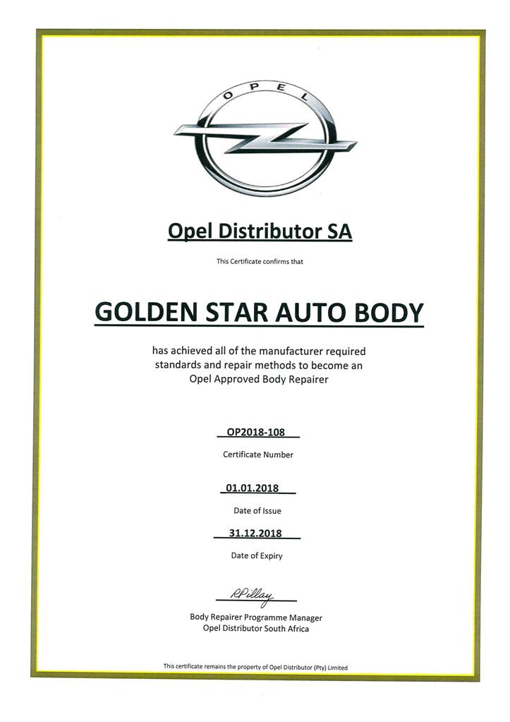 Opel approval