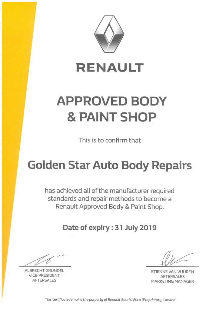 Renault Approval